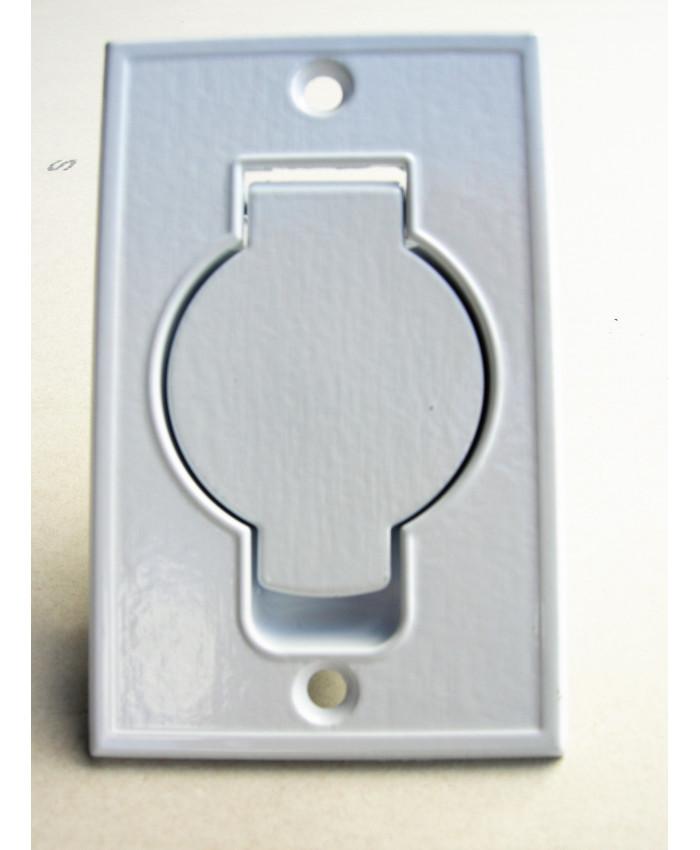 Suglucka för centraldammsugare, metall, vit, golv