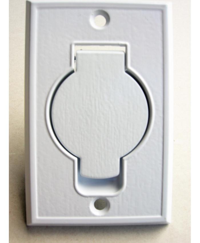 Suglucka för centraldammsugare, metall, vit, vägg